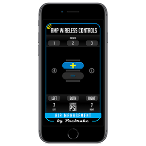 iPhone - Wireless Air Spring Controls app